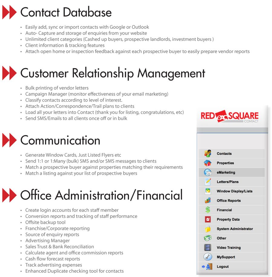 Red Square Contact - Premium Office Tool